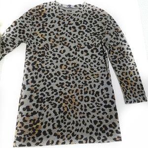 Zara tunic or mini dress leopard print long sleeve